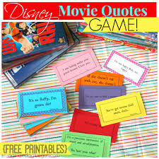 quote box html disney movie quotes game with free printables a and a glue gun