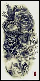 except no skull more flowers a and nautical compass