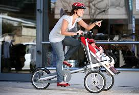 Muito Conheça a bicicleta dobrável que se transforma em carrinho de bebê  @FG27
