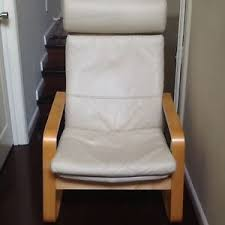 Ikea Malung Swivel Armchair Ikea Leather Pello Chair In Cream Color Excellent Modern Rocker