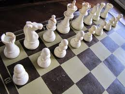 plastic chessmen