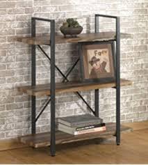 Industrial Bookcases Amazon Com Homissue 3 Tier Industrial Bookcase And Book Shelves