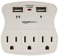luxury power outlets amazon com amazonbasics 3 outlet surge protector with 2 usb ports