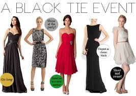 black tie attire black tie affair what to wear