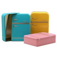 boite metal cuisine boîte cuisine métal réfrigérateur vintage jaune achat vente