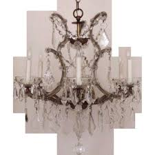Maria Theresa 6 Light Crystal Chandelier Shop Classic Lighting 6 Light Maria Theresa Chrome Crystal