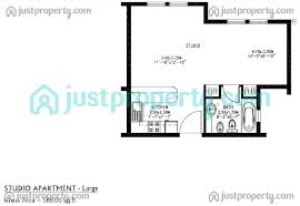 100 floor plan studio type unixx south pattaya condo for