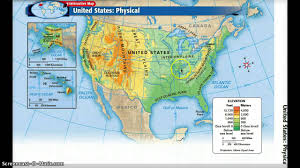 Physical Map Of North America by United States Physical Geography Youtube
