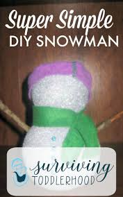 diy super simple styrofoam snowman