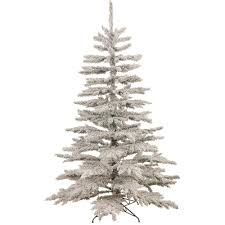 flocked norway spruce christmas tree dzd