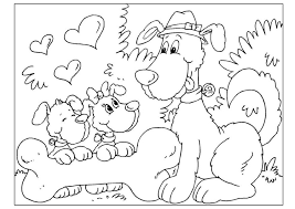 coloring page father u0027s day dogs img 25775