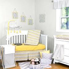 Gray Chevron Crib Bedding Nursery Yellow And Gray Chevron Crib Bedding Collection Also Blue