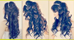 curly hairstyles for prom long hair hair style and color for woman