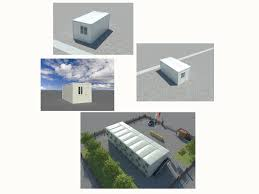 four sides slope roof container best selling prefabricated steel