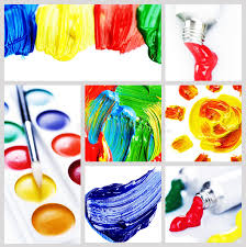color and paint color paint collage stock photo image of drawing abstract 15386448