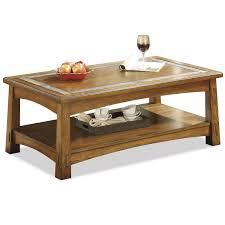 riverside 2902 craftsman home rectangle cocktail table homeclick com