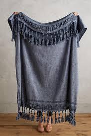 roped fringe throw blanket anthropologie