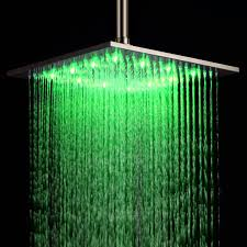 ouku stainless steel rainfall shower head 12 inch bathroom square