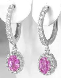 pink earrings pink sapphire drop earrings in 14k from myjewelrysource ge 5083