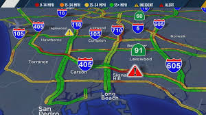 210 Freeway Map Multi Vehicle Wreck Shuts Down Sb 405 Fwy In Signal Hill Abc7 Com
