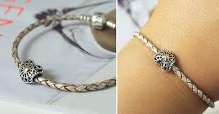 pandora silver leather bracelet images Charms for leather bracelet jpg