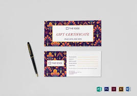 photography gift certificate template 10 download documents in