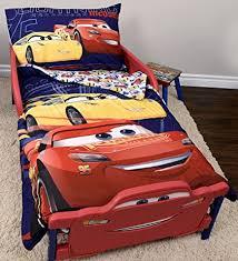 disney cars bedding set amazon com disney cars 3 lightning mcqueen toddler bedding set 3