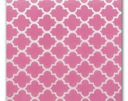 quatrefoil wrapping paper pink gift wrap etsy