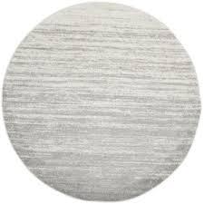 White Grey Rug Round Rugs You U0027ll Love Wayfair