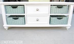 coffee table with baskets under refurbished furniture cream coffee table with wicker baskets white