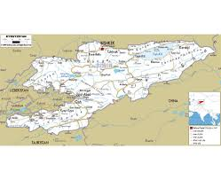 Map Of China With Cities by Maps Of Kyrgyzstan Detailed Map Of Kyrgyzstan In English