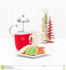 christmas cookies and coffee stock photo image 81142384