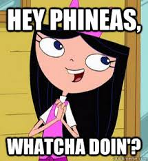 Whatcha Doin Meme - hey phineas whatcha doin isabella whatcha doing quickmeme
