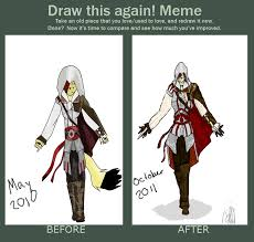 Assassins Creed Memes - assassin s creed redraw meme by raven the foxx on deviantart