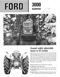 ford 3000 narrow dealer ad brochure