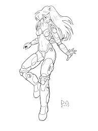 cyborg inked by nirsus on deviantart