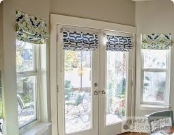 Roman Shade With Curtains Deep Thoughts By Cynthia Roman Shades For French Doors