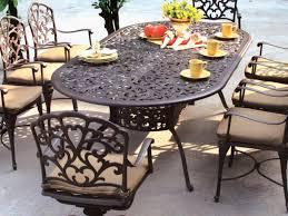 7 Piece Round Patio Dining Set - patio 61 hanover monaco 5 piece patio dining set 10 patio dining