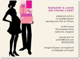 couples baby shower invitations baby shower invitations partner front fuchsia baby