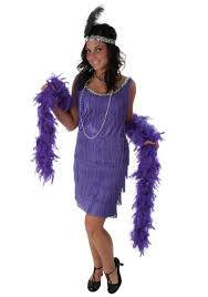 mardi gras costumes plus size purple fringe flapper dress