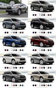 colors for toyota highlander car revs daily vert colors tile