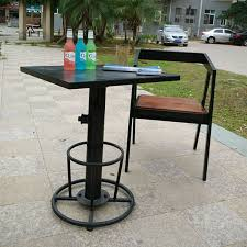 iron wood loft retro casual outdoor furniture restaurant bar cafe