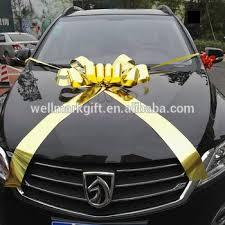 car bow ribbon car decorations metallic gold ribbon pull bow buy car bow gold
