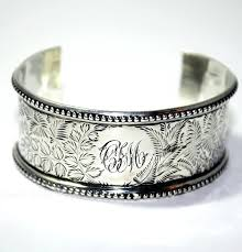 sterling silver monogram bracelet sterling silver jewelry box monogrammed personalized sterling