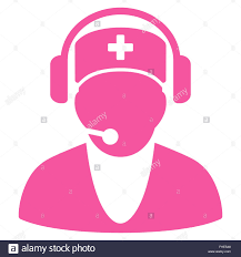 hospital receptionist icon stock photo royalty free image