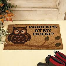 Owl Kitchen Rugs Owl Home Decor Owl Welcome Mat Rugs And Window Treatments Home