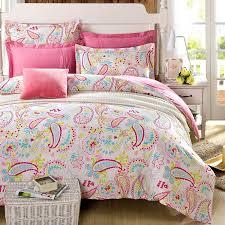 amazon com cliab paisley bedding pink twin girls duvet cover set