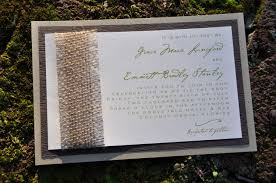 layered wedding invitations mounted wedding invitations burlap wiregrass weddings