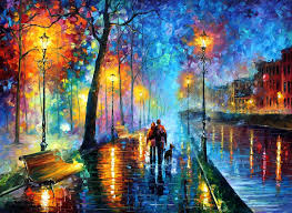 melody of the night u2014 palette knife oil painting on abstract