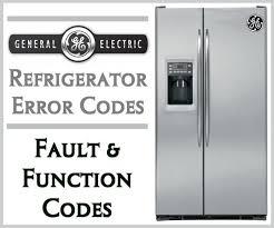 ge refrigerator error codes fault function codes